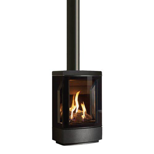 gazco loft gas stove base flat