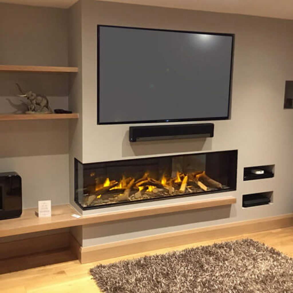electric fireplaces media walls