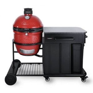kamado joe classic joe ii grill with cart